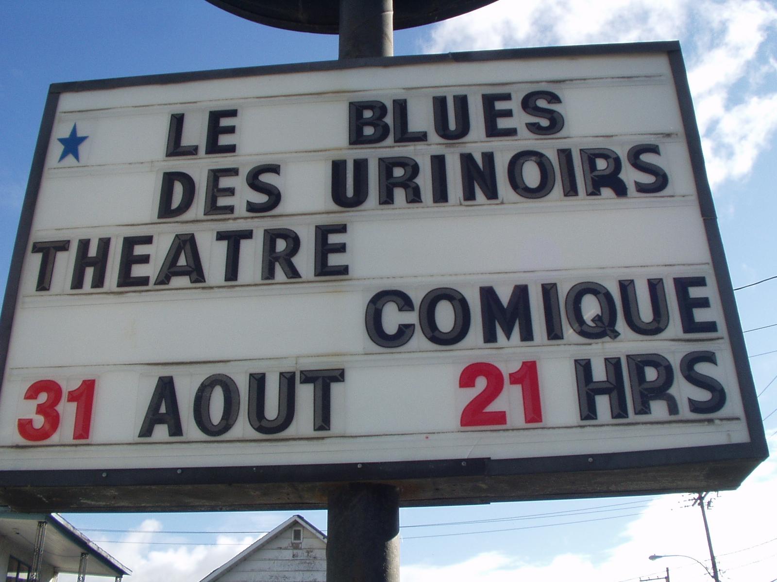 Le Blues des Urinoirs sur la route...